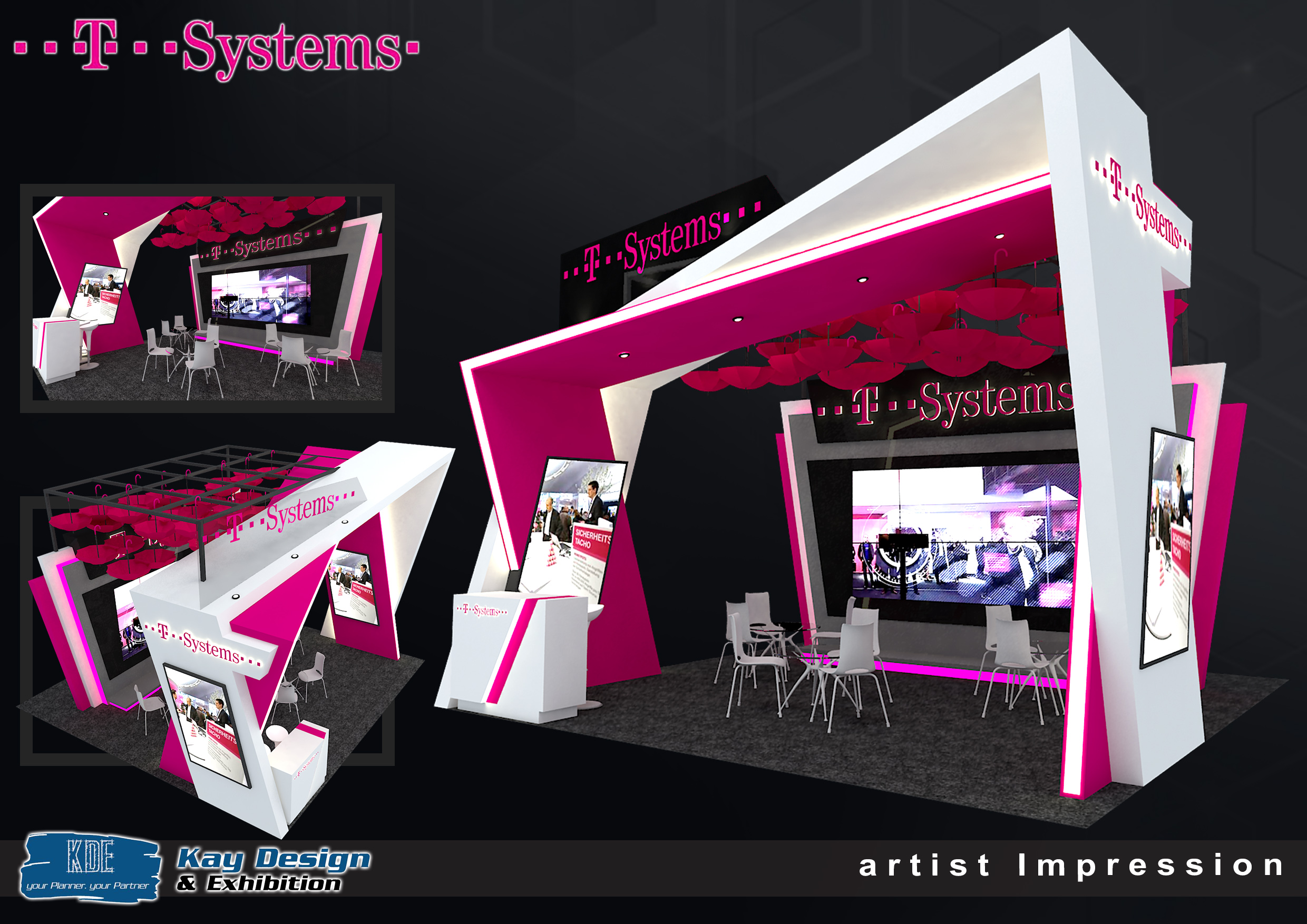 Exhibition Booth Website : T system booth design invent