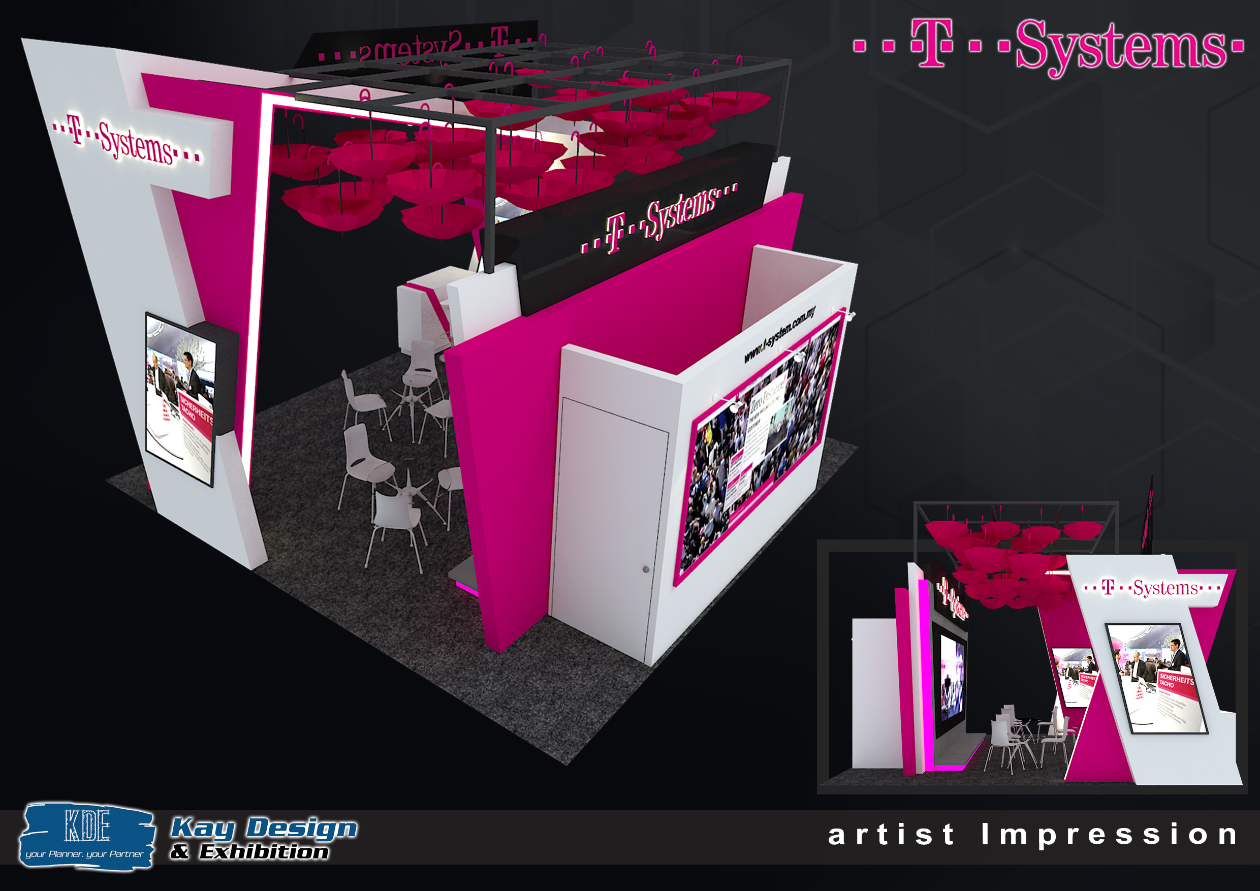 Exhibition Booth Requirements : T system booth design invent