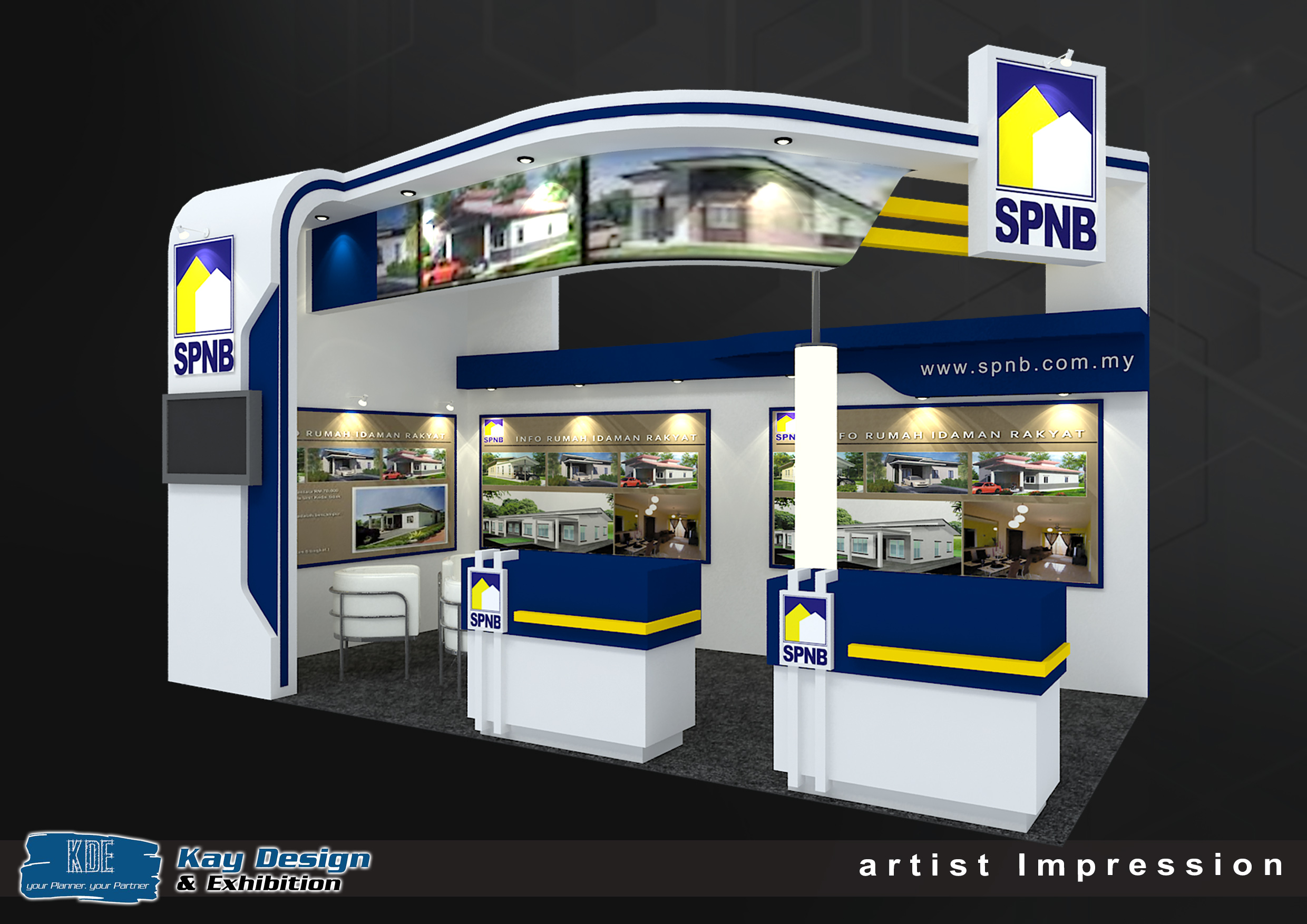 Spnb Property Booth Design Exhibition Booth Designer Malaysia Invent360